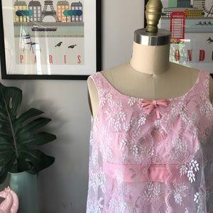 Vintage • Lace Cape Gown